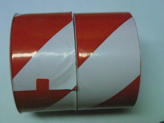 Výstražna červeno-biela nelep. páska  80mm x100m